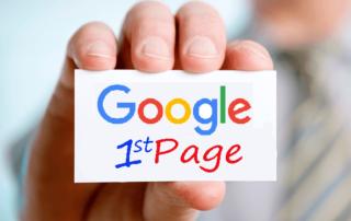 première page de Google