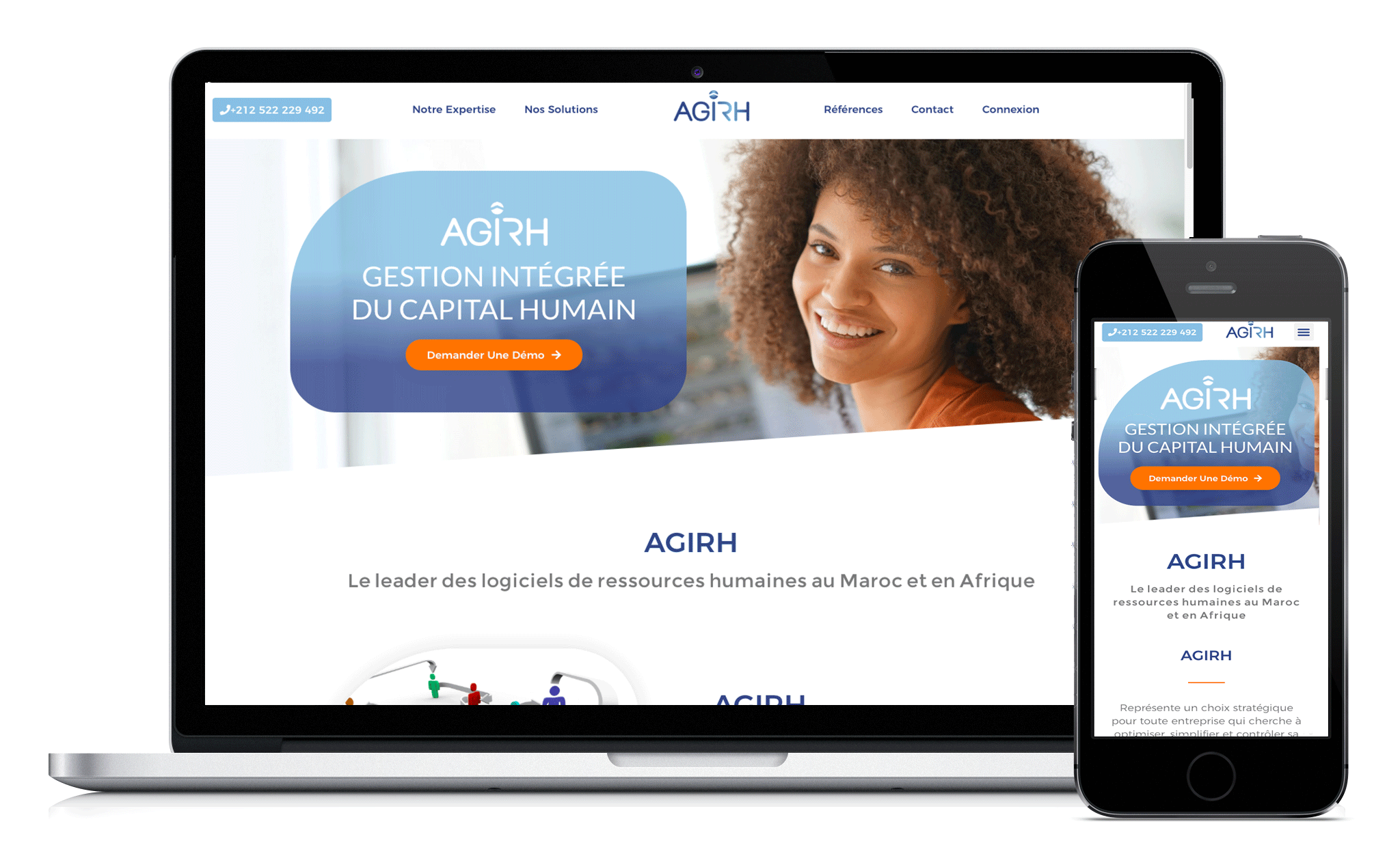 Conception du site Web d'Agirh