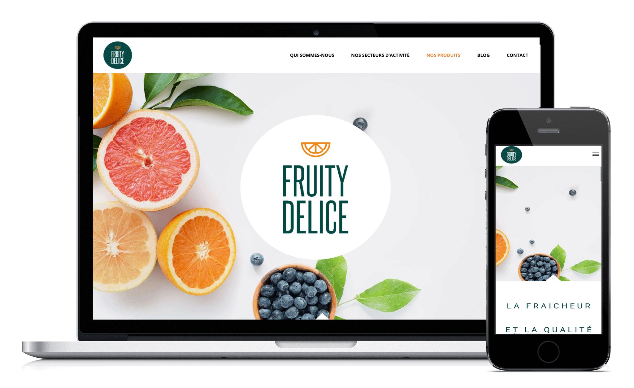 Conception du site Web de fruity delice