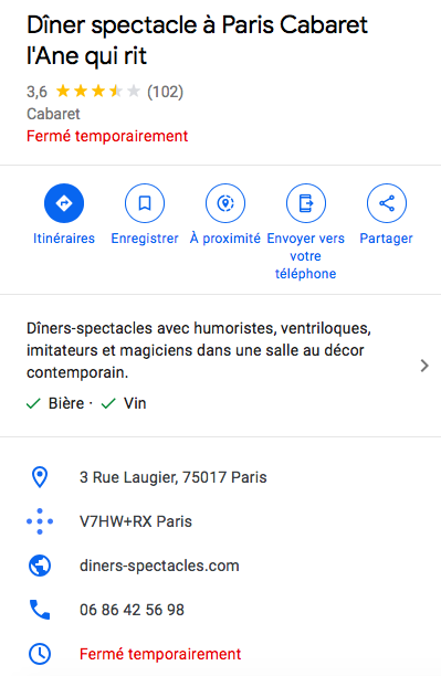 Référencement Google my business